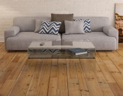 COFFEE TABLE ATENA ETAGERE TINTED GREY HOT BENT GLASS 113X66X40 CM (CT070G)